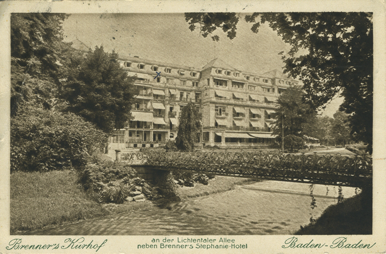 Maisemapostikortti Saksan Baden Badenista